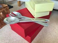 Stylish oversized serving spoons