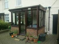 Conservatory door and glazing