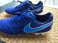 Nike Tiempo Legend IV ID Raphaël Varane Edition Blue / White UK Size 9.5