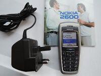 Basic Nokia Mobile Phone. Unlocked. Charger & Manual