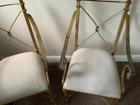Vintage Chairs Metal/Steal Shabby Chic