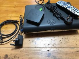 Sky HD+ box with remote cable and wifi box