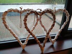 Wedding Wicker Hearts - Great wedding day accessories / room dressing.