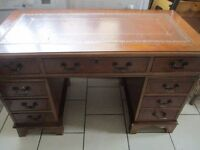 Writing Desk with leather top