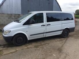 MERCEDES BENZ VITO LWB 8 SEATER MINI BUS NO VAT