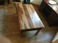 coffee table , chunky solid wood , lovely grain.