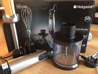 Hotpoint Hand Blenders 3 in 1, 700 Watt, Silver