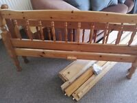 RESERVED Free pine double bed