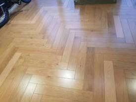 Oak herringbone floor *half price*