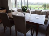 6 Ikea Henriksdal Dining Chairs with Oak Legs