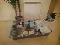Guinea pig/rabbit cage. 38x23x18inch. Good as new condition.