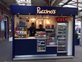 Vacancy Barista/ Cafe employee - Slough Station Puccinos Kiosk - flexible hours - training available