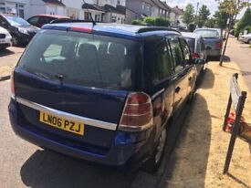 Vauxhall Zafira Club 1796cc Petrol 5 speed manual 7 seats estate 06 Plate 2006 Blue