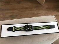 Apple Watch Nike+ 42mm Space Grey Aluminium Case with Nike Sport Band, Black / Volt