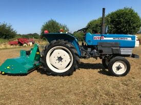 MITSUBISHI D2050 2WD Compact Tractor with New 4ft Flail Mower, 24HP, 855 Hours