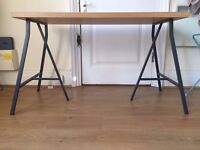 IKEA LERBERG trestles and LINNMON oak-effect table top