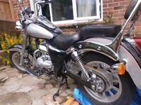 motorcycle kinroad xt 125 103 miles from new 2007 chopper bike starts great