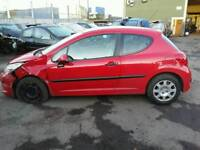 2007 PEUGEOT 207 URBAN 1.4HDI RED PASSENGER SIDE LEFT FRONT DOOR COMPLETE **POSTAGE AVAILABLE**