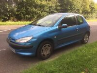 2002 Peugeot 206 1.4 3 Months Mot Drives Excellent 84417Mile Small Dent On Wing Hence Low Price £499