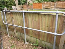 Garden galvanised steel hand rail