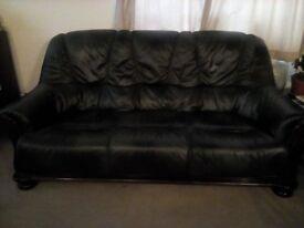 Real Italian Leather Sofa,Green