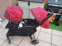 Joie double pushchair evalite duo
