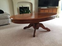 Excellent condition wooden oval coffee table