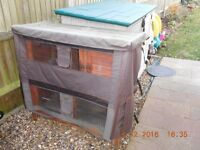 4ft Rabbit/Guinea Pig Hutch - 2 Tier with Built in Run