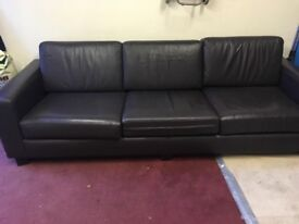 Genuine Brown Leather 4 Seatet Sofa