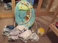 Baby bouncer/clothes/hats/bottle warmer