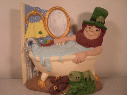 Bathing Leprechaun with Irish Shamrock St. Patrick