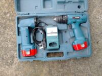 MAKITA DRILL AND TORCH COMBO SET IN CASE