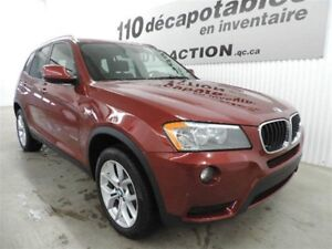 2013 BMW X3 xDRIVE 28i AWD ROUGE VERMILLION FAUT VOI