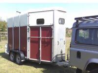 2007 burgundy Ifor Williams HB510 horse trailer