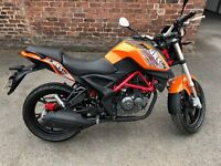 KSR Moto GRS125 Pre reg Last one! 1 mile only Balance of warranty and Super Moto style one as well