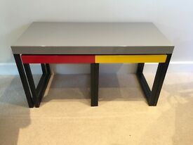 Modern Coffee Table with Nest of 2 Tables Underneath - Excellent Condition