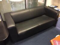 IKEA Large Sofa Faux Leather