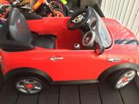 Red mini hatch 6V electric ride on