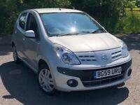 2009 Nissan Pixo N-tec 1.0L Petrol, 5 Door Hatchback, 37000 Miles, New MOT