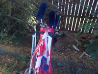 Golf Clubs, Bag and Trolley + Balls etc