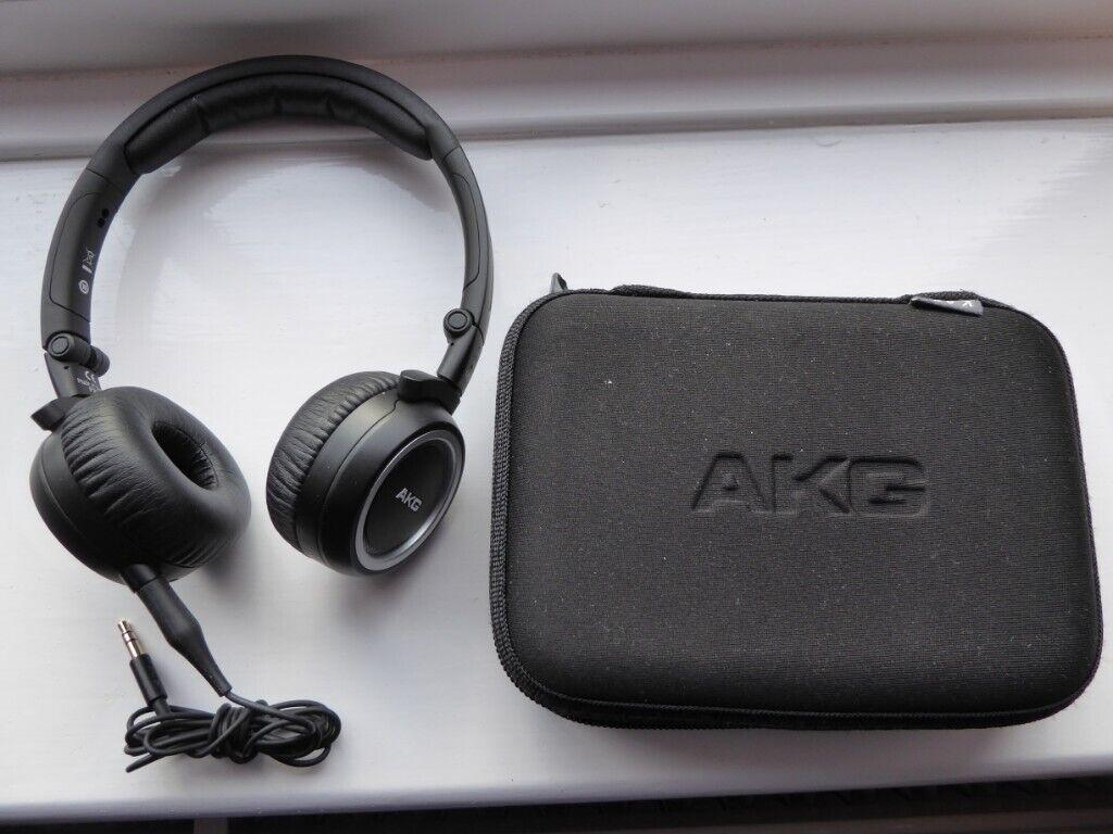 27e3a8cfe9a Compact Folding Headphones AKG K451, with rigid zipped case. Scarborough ...
