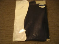 """New pair of navy blue voile net panels, each measuring 60"""" wide by 48"""" drop. v"""