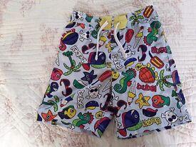 M&S Boy's swim shorts / boys swim trunks / swimwear / age 6-7 years