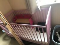 Girls space saver cot