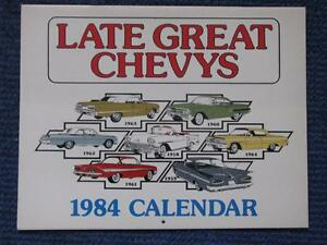 1958 to 1964 Chevrolet Late Great Chevy's Calendars.
