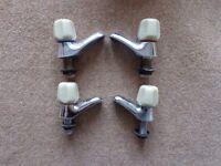 Matching pairs basin and bath taps