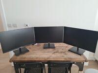 Philips E-Line 245E1S 24 inch IPS 1440p monitor, black