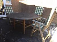 Teak garden table & chairs