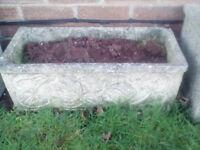 Concrete troughs plant pots various sizes