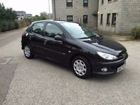 PUG 206 Look 1.4p with LONG MOT (06/17) no advisories in VGC, drives PERFECT, FSH, 2 Keys! Very ECO!
